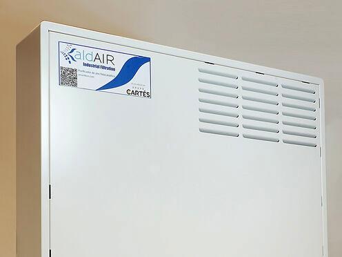 Grupo Cartés distribuidor purificadores de aire fotocatalíticos de aldAIR Industrial Filtration