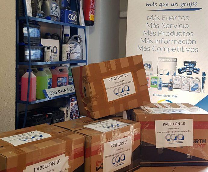 Grupo CGA donación emergencia sanitaria por coronavirus