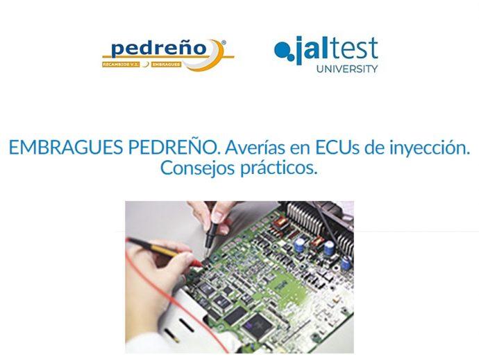 Grupo Pedreño y Jaltest webinar gratuito mayo 2021 sobre averías en ECUs de inyección