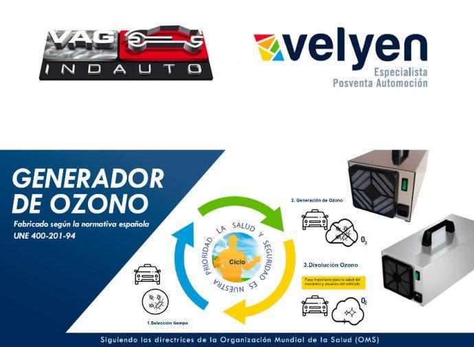 Grupo Vagindauto y Velyen generadores de ozono para desinfección de vehículos e instalaciones