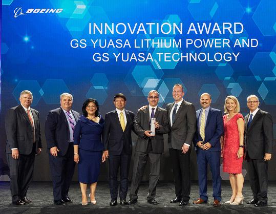 GS Yuasa premio Proveedor Boeing del Año 2019