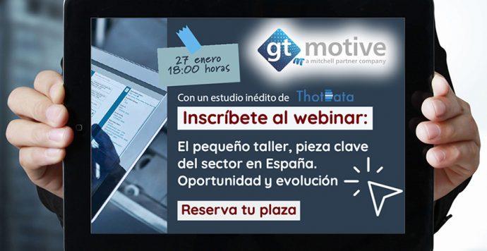 GT Motive webinar sobre papel de los talleres pequeños de automoción