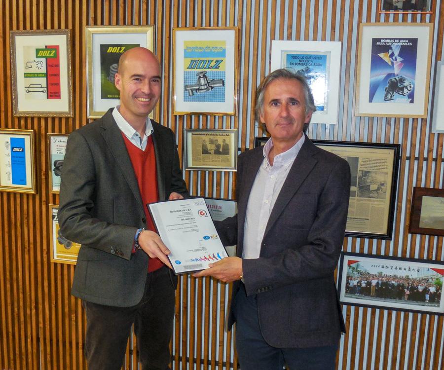 Industrias Dolz certificación ISO 14001 Sistema de Gestión Ambiental