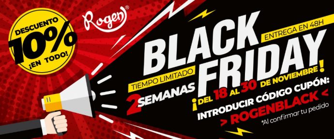 Industrias Rogen campaña Black Friday 2019