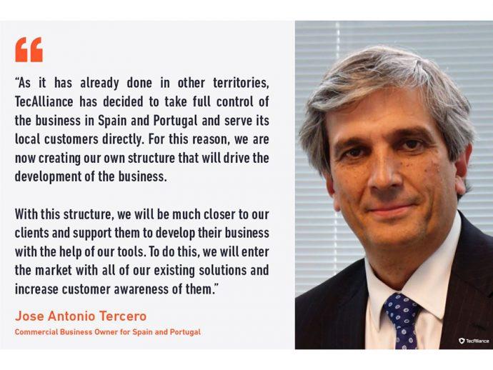 José Antonio Tercero nuevo Commercial Business Owner para España y Portugal de TecAlliance