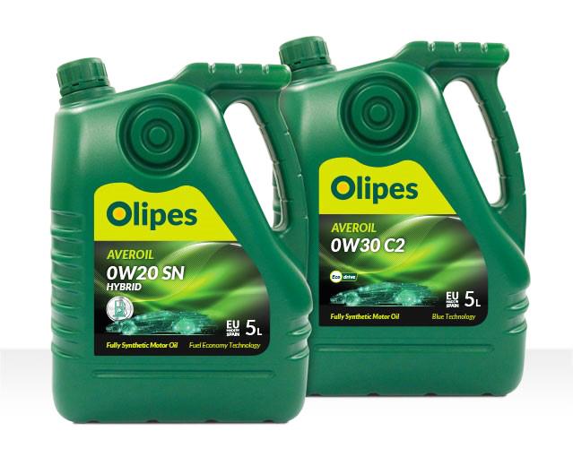 lubricantes sintéticos Olipes Averoil para motores híbridos y con AdBlue