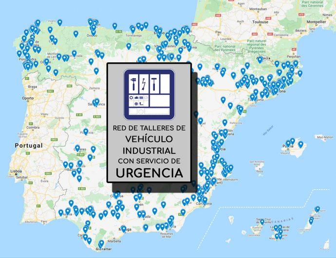 mapa de talleres V.I. abiertos en España durante estado de alarma