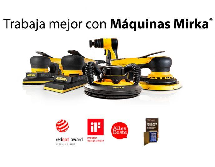 máquinas Mirka decada de innovación en productos para talleres de carrocería