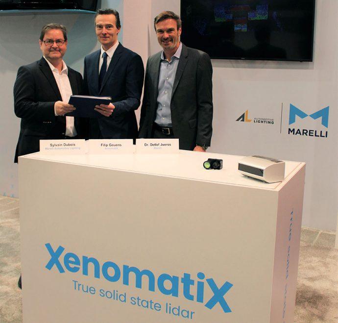 Marelli acuerdo con XenomatiX producción soluciones LiDAR