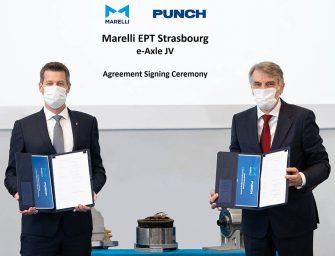 Marelli y PUNCH Motive colaborarán en la fabricación de ejes eléctricos
