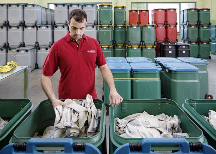 MEWA modelo de limpieza sostenible para talleres automoción