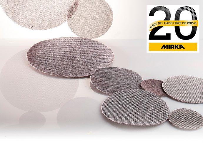 Mirka 20 aniversario de lijado libre de polvo