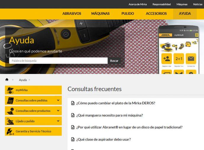 Mirka Ibérica nueva sección de ayuda