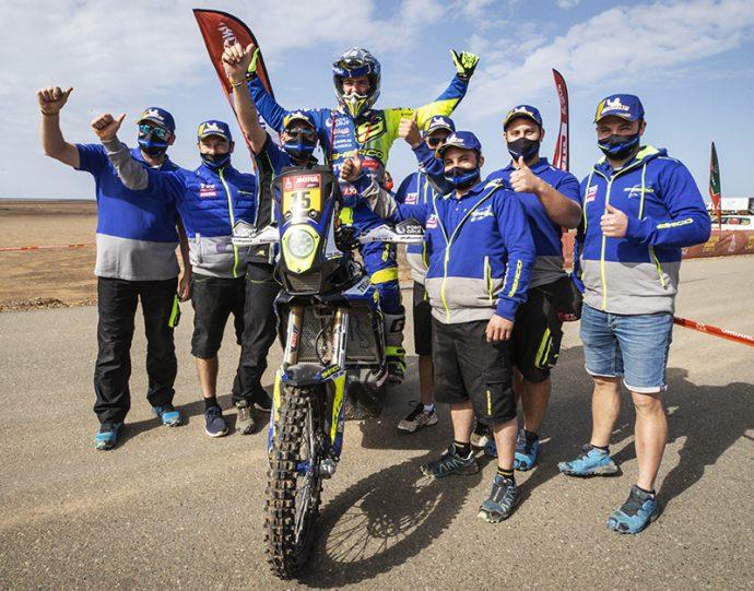 Neumáticos Andrés celebra éxito Lorenzo Santolino Dakar 2021