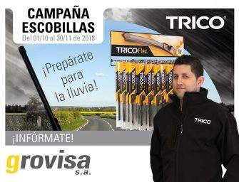 Grovisa lanza una campaña promocional de escobillas Trico