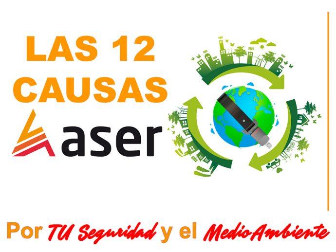 nueva página web de la campaña 12 Causas ASER