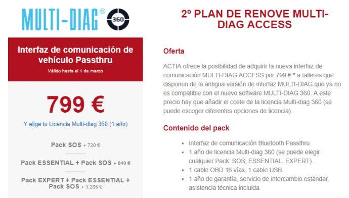 oferta Plan Renove equipo Multi-Diag Access