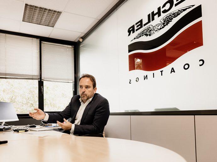 Oscar Sánchez del fabricante de pinturas Lechler