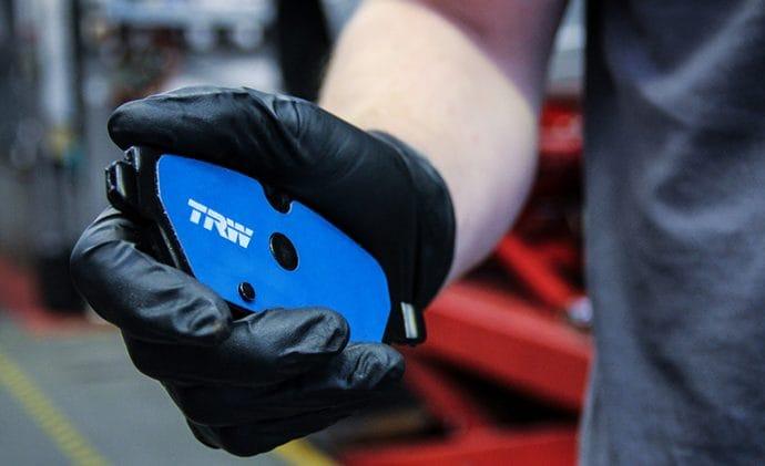 pastillas de freno TRW Electric Blue para coches eléctricos