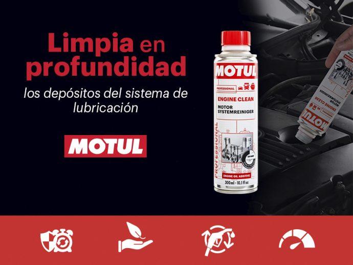 perfecta lubricación del motor con Motul Engine Clean