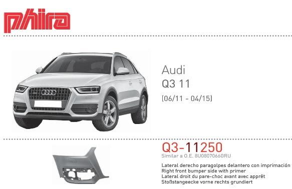 paragolpes delantero para Audi Q3