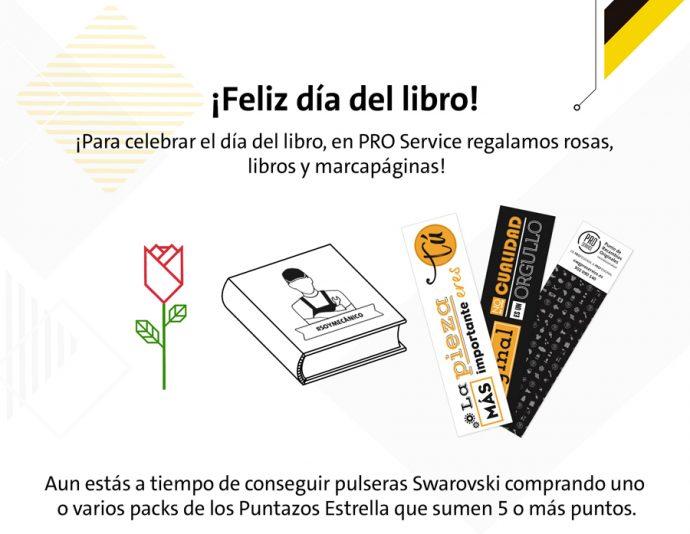 pro service celebra día internacional del libro y Sant Jordi