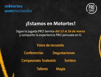 PRO Service llenará su stand de Motortec de atractivas propuestas para el taller