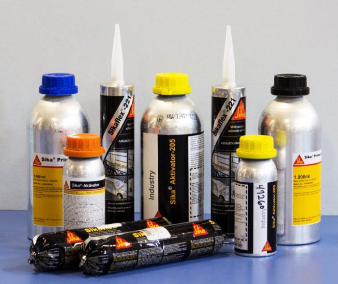 productos químicos Sika para vehículo industrial