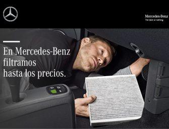 Importantes rebajas en la gama de Filtros Originales Mercedes-Benz