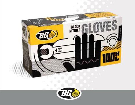 promoción guantes de nitrilo negros de Guaja Trading-BG Products