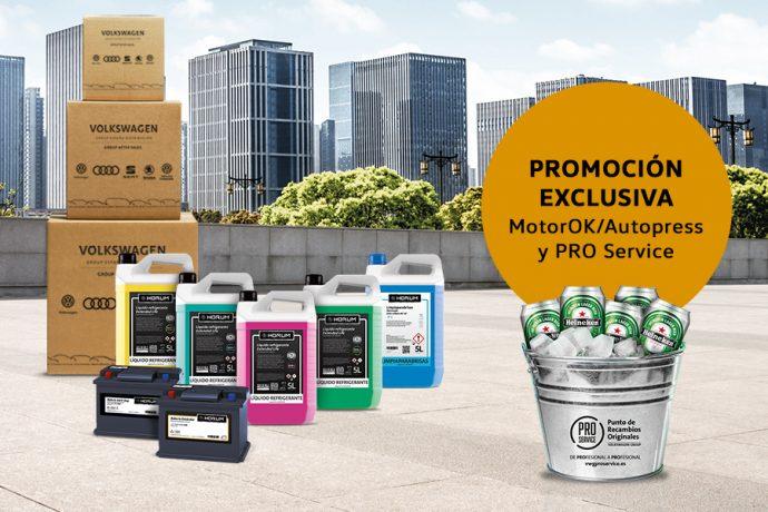 promoción PRO Service y MotorOK cubo y cervezas para talleres