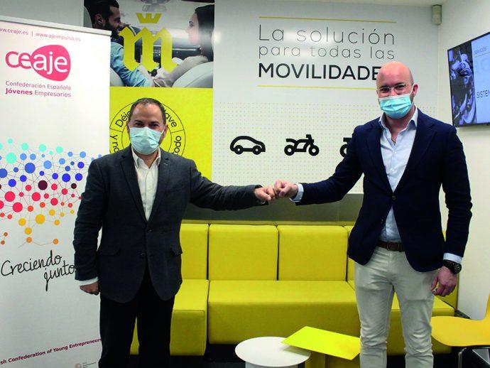 red de talleres Midas acuerdo con la Confederación Española de Asociaciones de Jóvenes Empresarios CEAJE