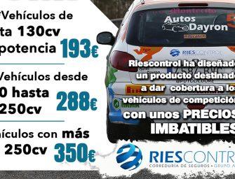 Riescontrol lanza un seguro especial para coches de rally