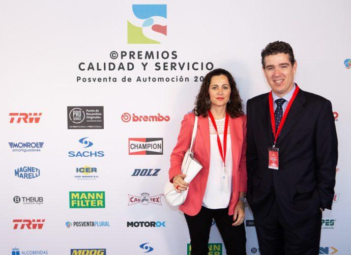 Rocío Dolz y Javier Vicent Premios Calidad y Servicio