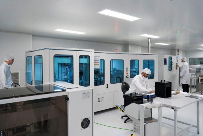 Sala Blanca FAE máquina apiladora capas del sensor