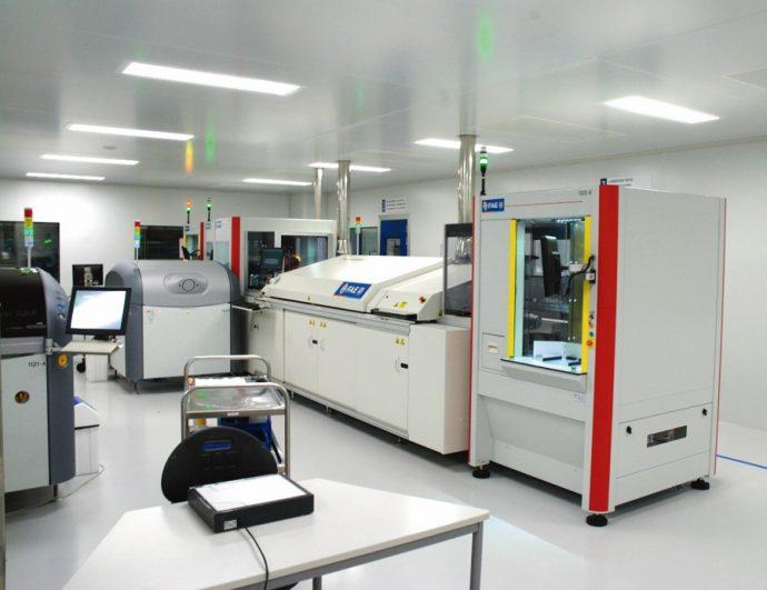 Sala Blanca máquina serigrafiadora capas del sensor