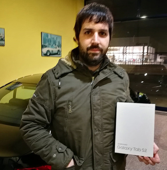 Santi Crespo ganador 4 millones pedidos online Neumáticos Andrés