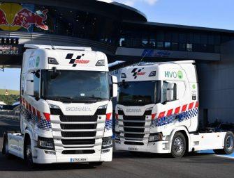 Scania renueva como proveedor de camiones HVO para la logística de MotoGP