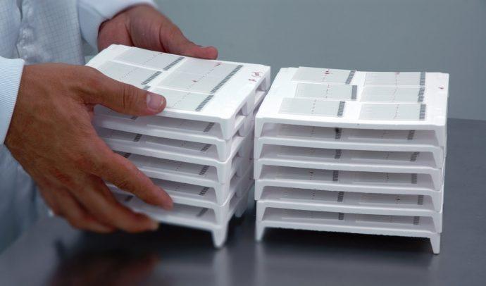 Sensores preparados para llevar al horno y sinterizar