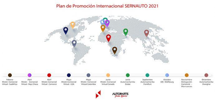 Sernauto Plan de Promoción Internacional 2021 para socios de automoción