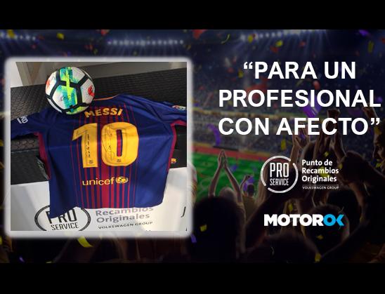 sorteo camiseta firmada Messi