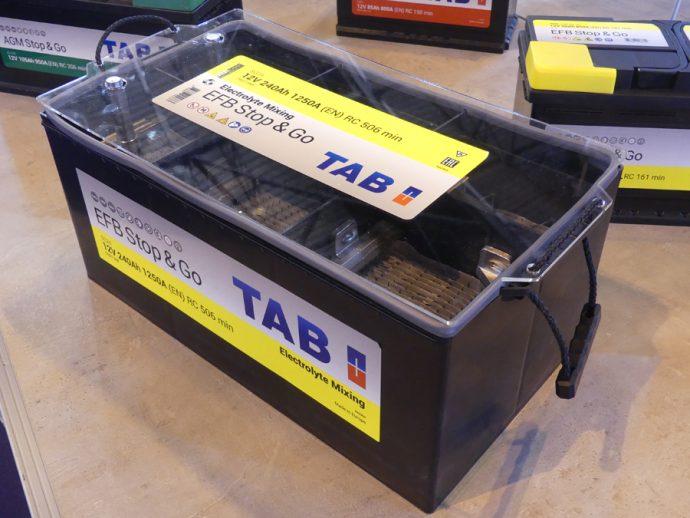 TAB Spain batería EFB en Caja C específica para vehículos industriales Euro 6