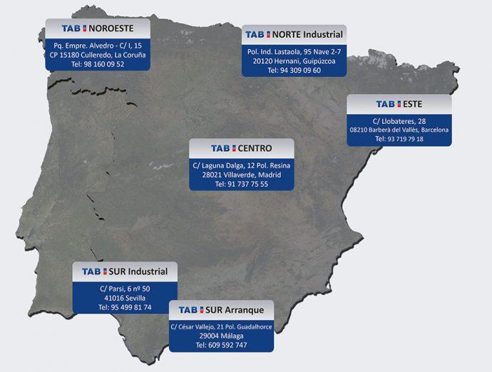 TAB SPAIN Delegaciones