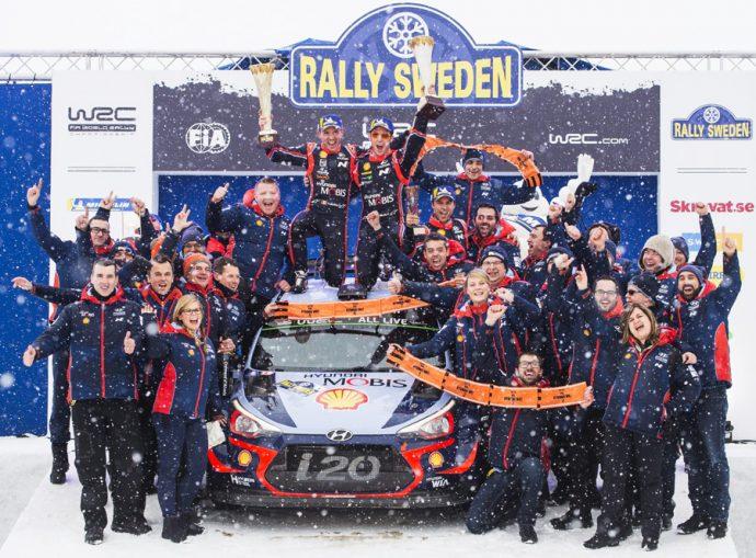 Thierry Neuville gana el Rally de Suecia equipando suspensión Monroe
