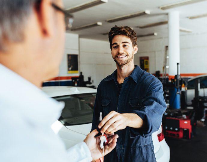 tiempo de reparación y satisfacción del cliente