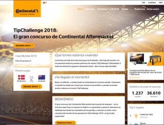 Continental pone en marcha su concurso futbolero TipChallenge 2018