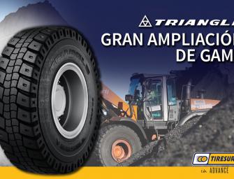 Tiresur refuerza su oferta en neumáticos OTR con nuevos modelos Triangle