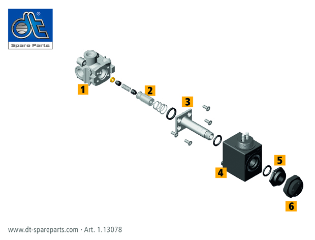 válvula solenoide DT Spare Parts