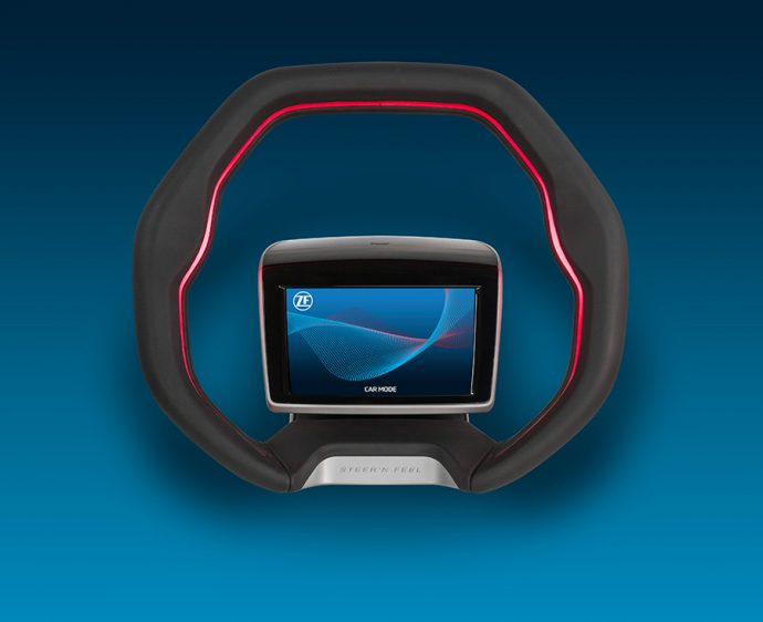 ZF desarrolla un volante para soluciones automatizadas y HMI