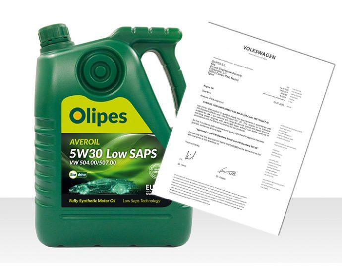 Volkswagen renueva homologación Olipes Averoil Low SAPS 5W30 504-507